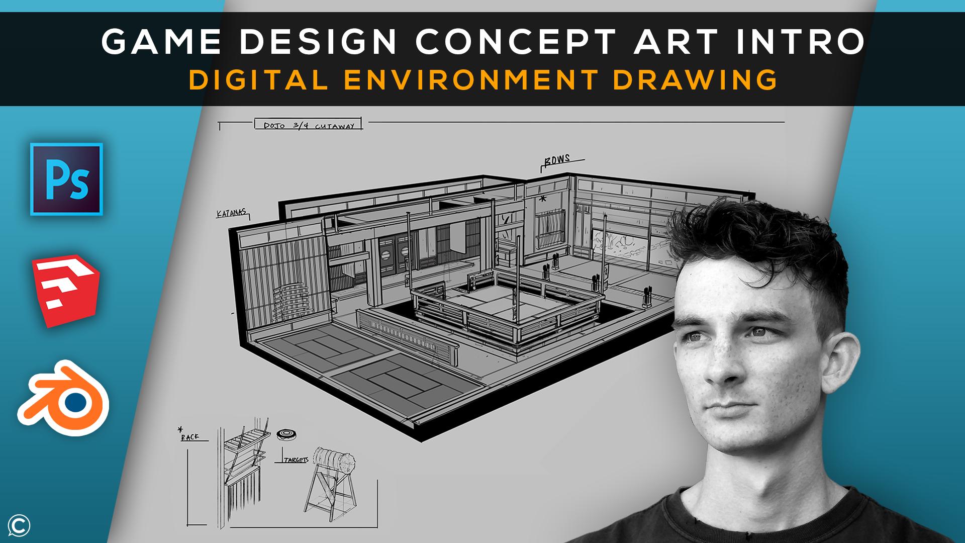 Game Design Concept Art Intro: Digital Environment Drawing