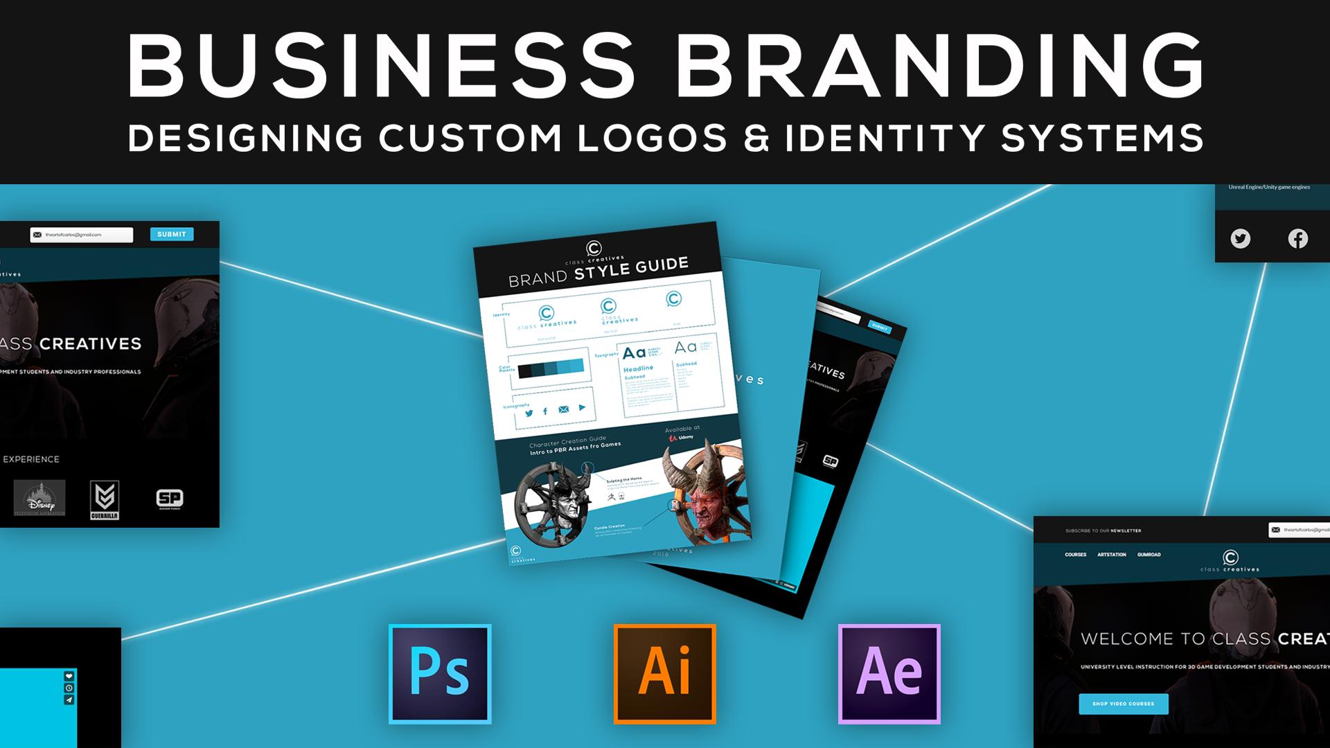 Business Branding: Designing Custom Logos & Identity Systems