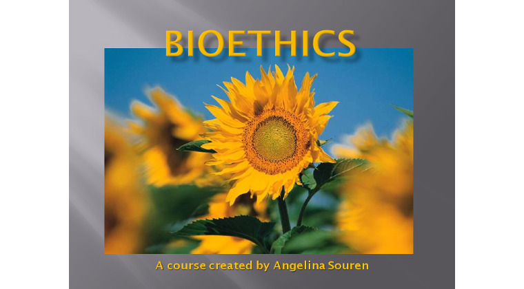 Bioethics - the ethics of everyday life (25 lectures containing 111 units, including resources)