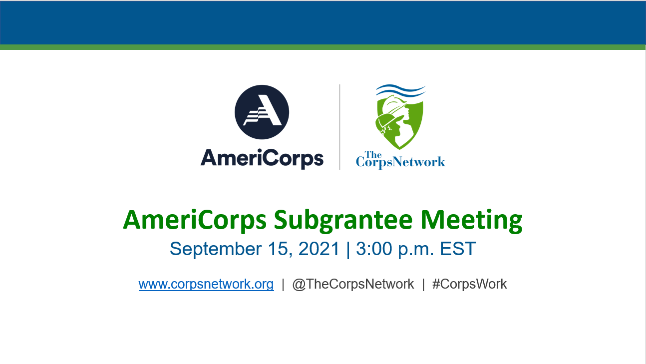 TCN AmeriCorps Pre-Program Year Meeting