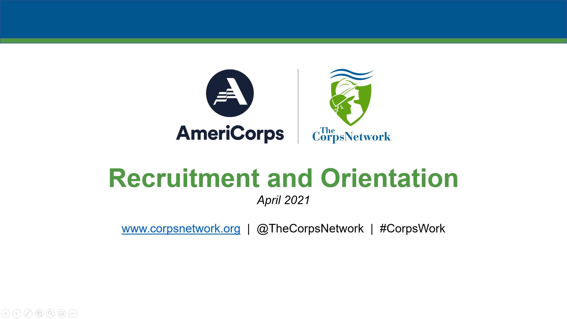 Recruitment and Orientation