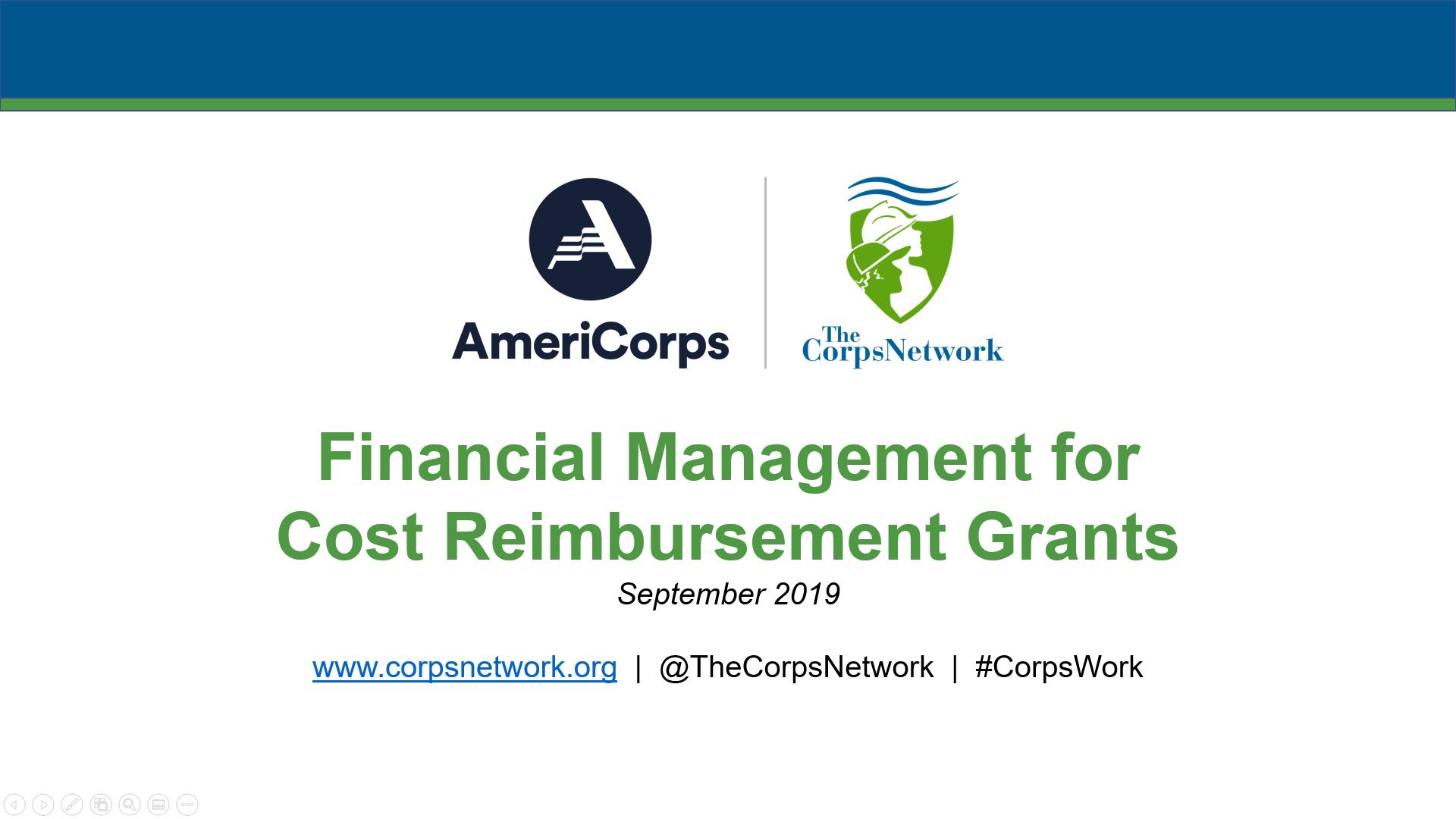 Financial Management for Cost Reimbursement Grants