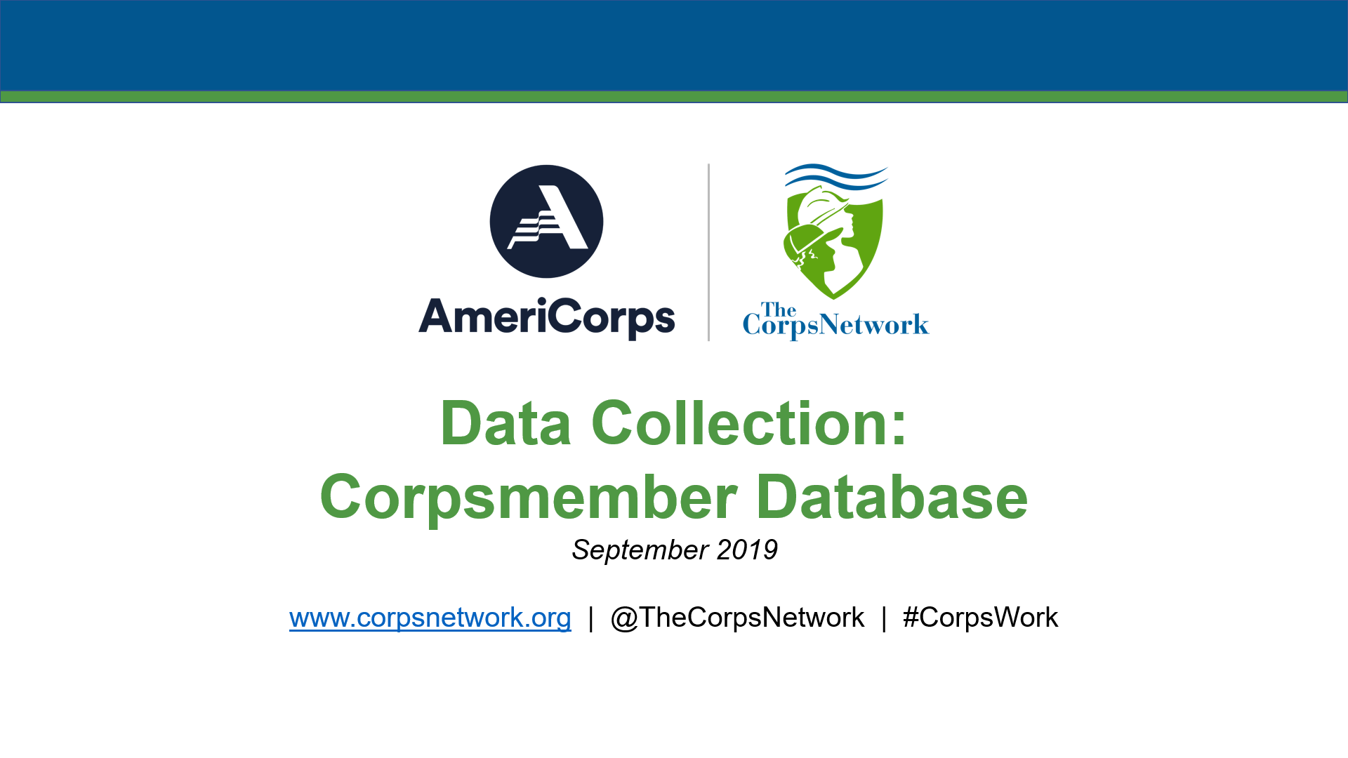 Corpsmember Database Tutorial