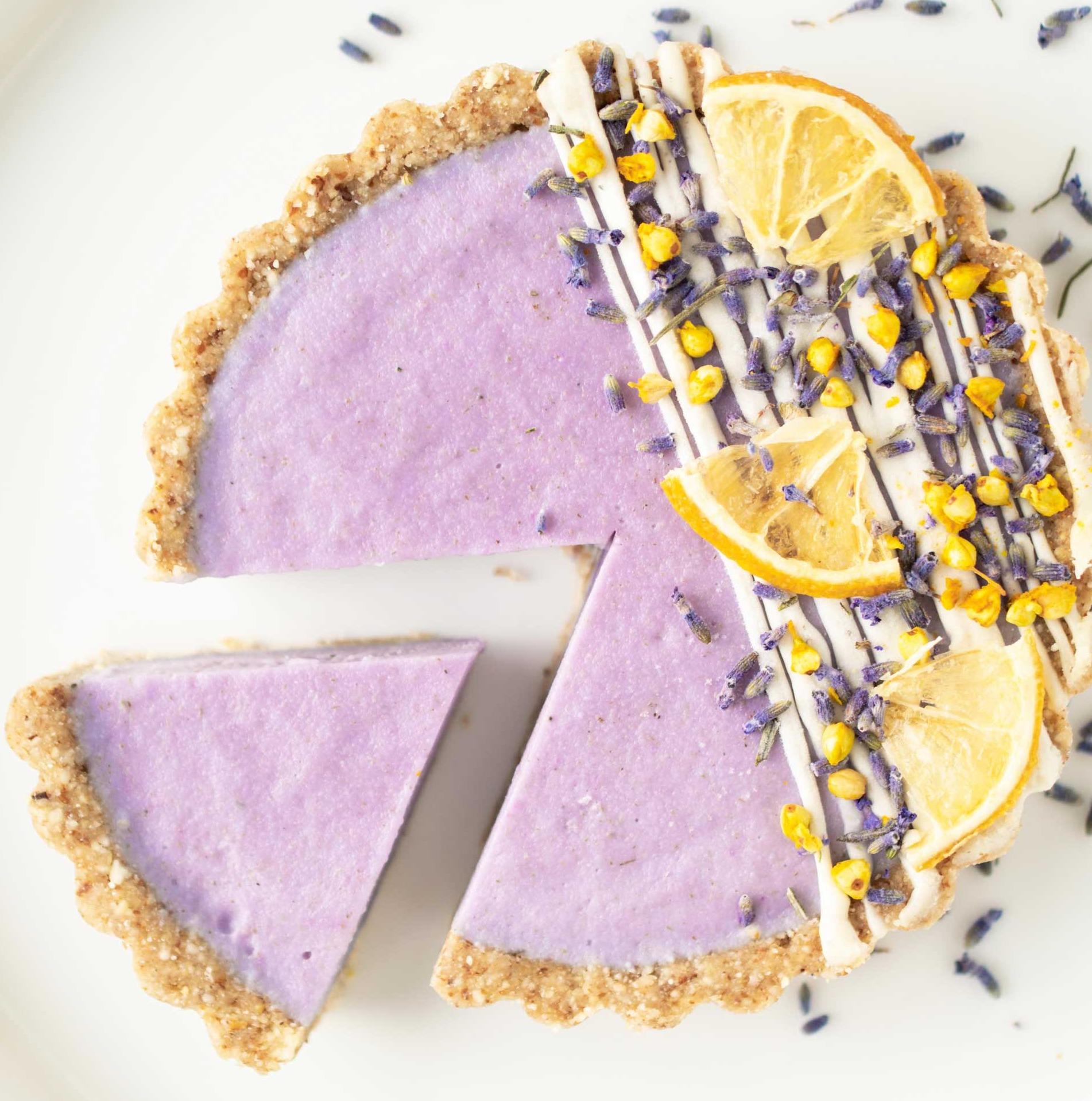 Lavender blueberry tart