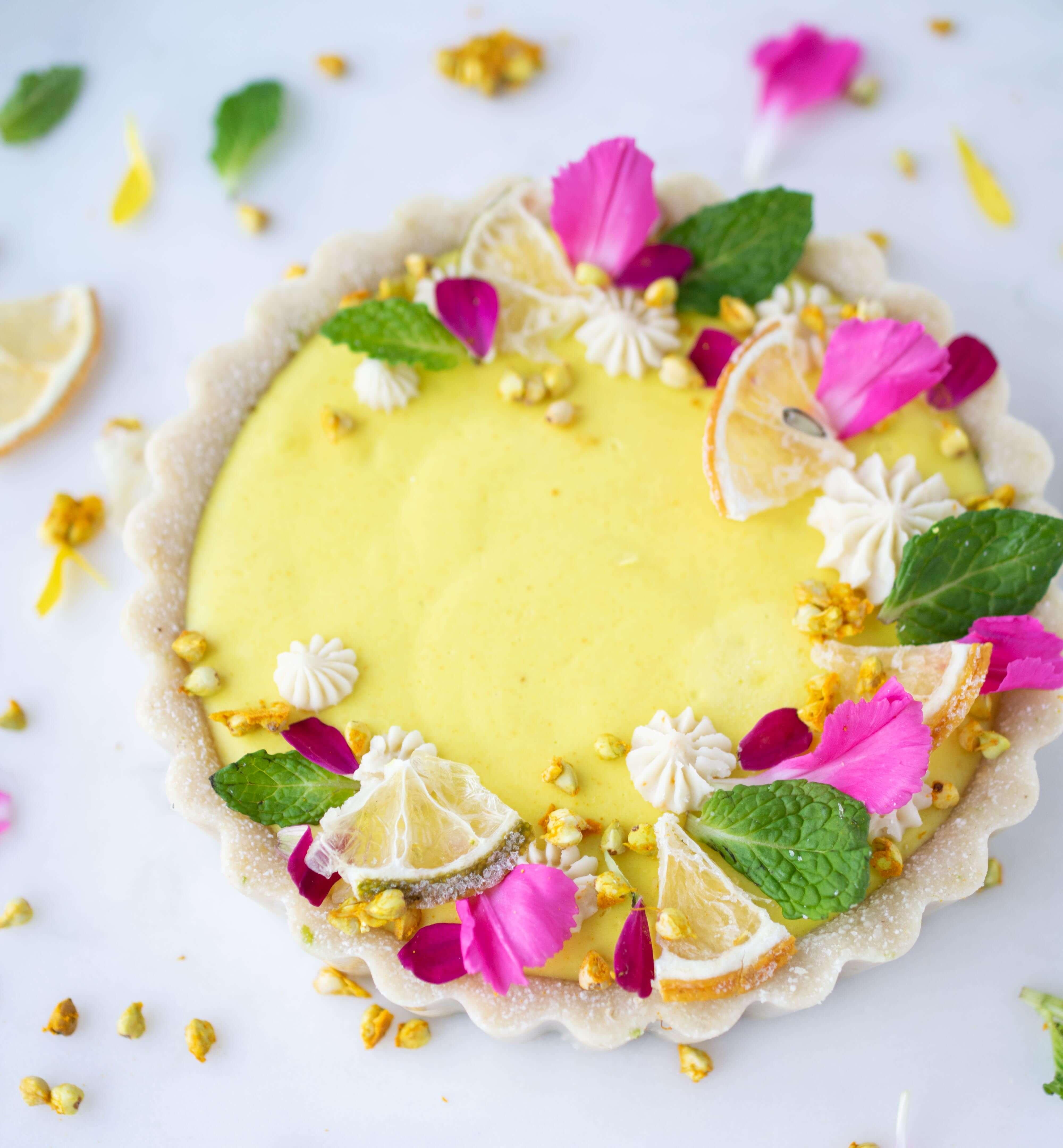 lemon panna cotta tart