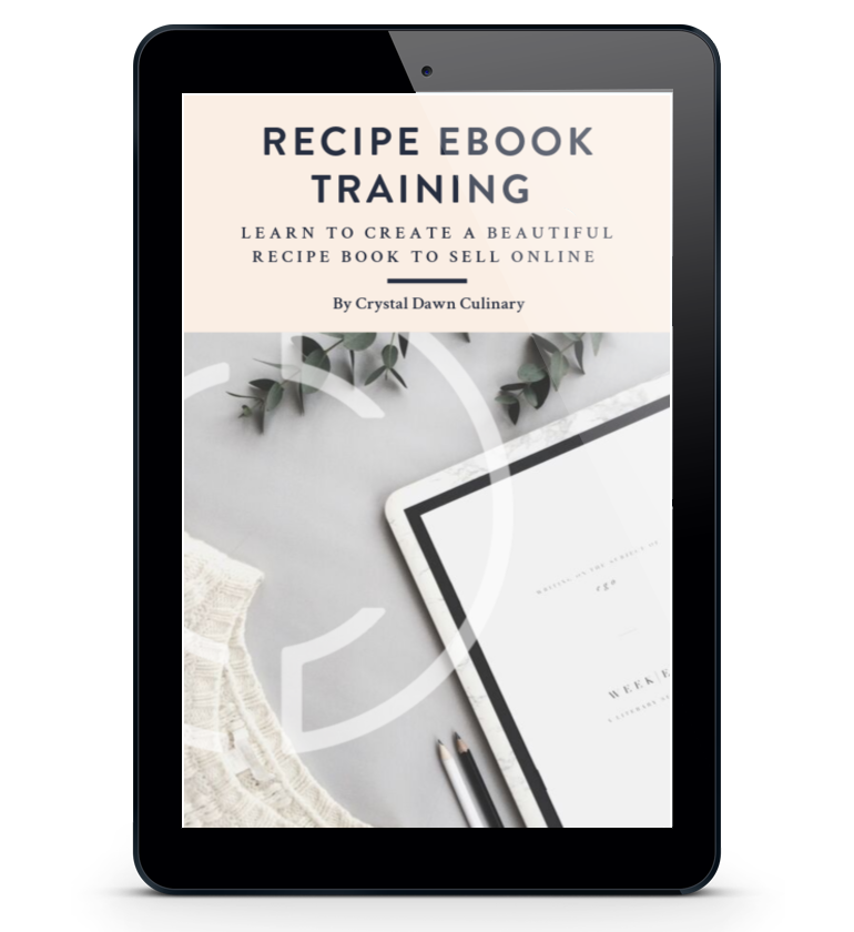 Recipe Ebook Training