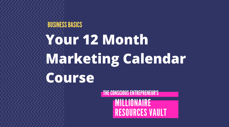 Your 12 Month Marketing Calendar Course (Fast Track Series)