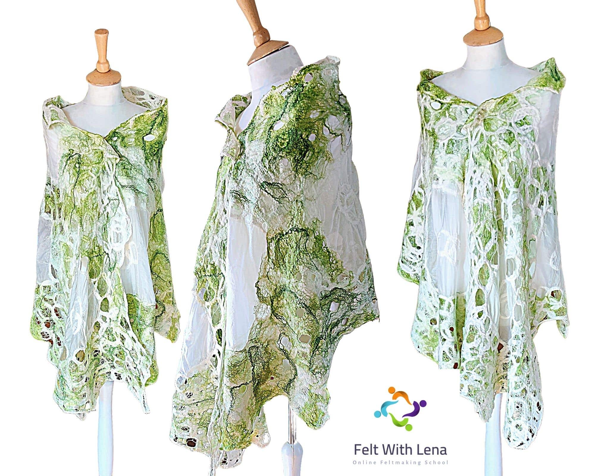 felted laces shawl