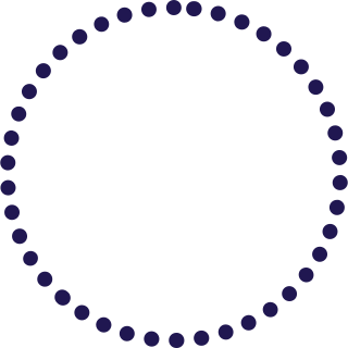 A dotted circle.