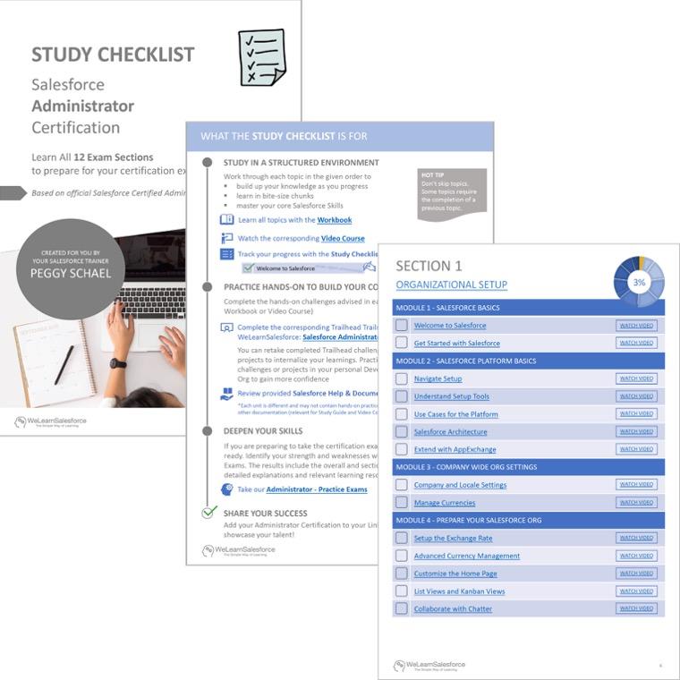 Salesforce Administrator Certification Study Checklist