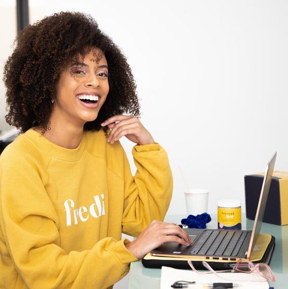 Woman Working Communicating