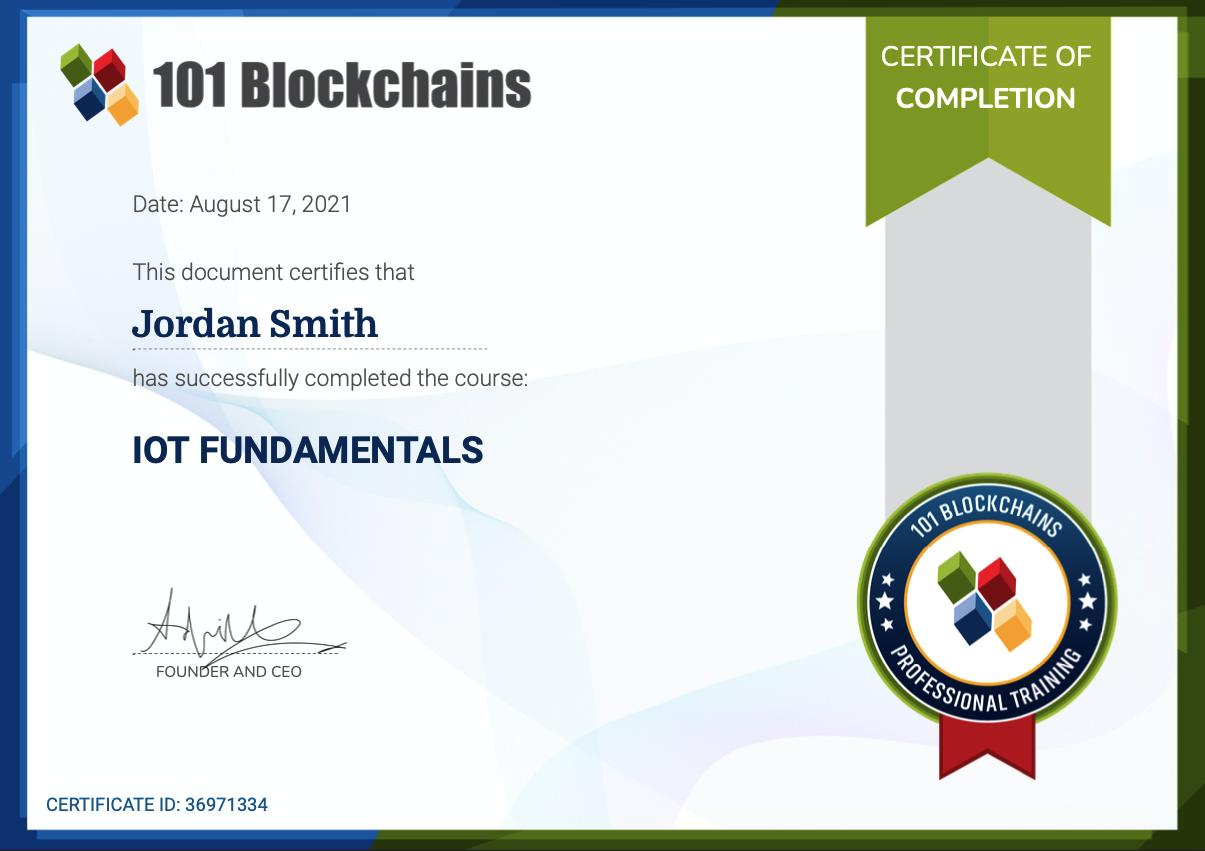 NFT Certification
