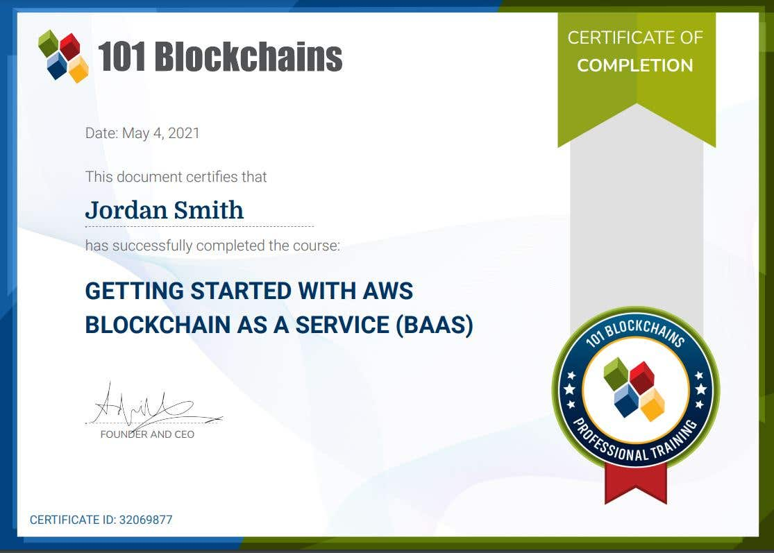 Getting Started with AWS Blockchain As A Service (BAAS)