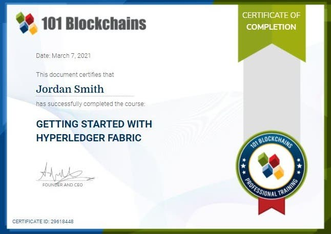 Getting Started with Hyperledger Fabric Certification