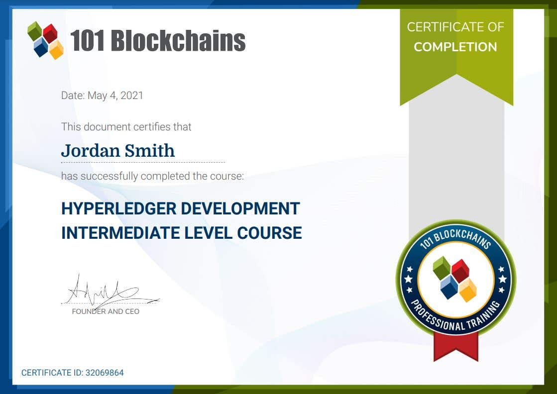 Hyperledger Development Intermediate Course
