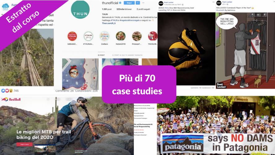 Estratto dal corso online sul calendario editoriale, più di 70 case studies
