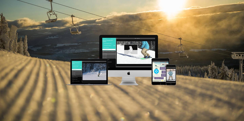Online snowboard lessons, online snowboard school, learn to snowboard online, how to snowboard