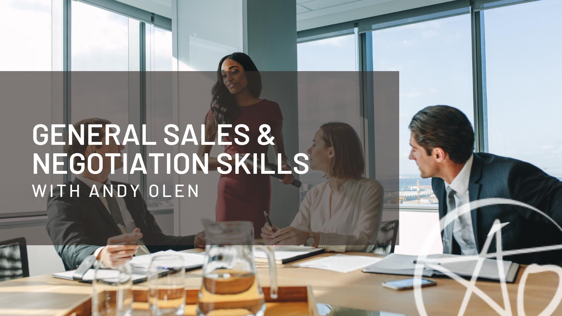 General Sales & Negotiation Skills