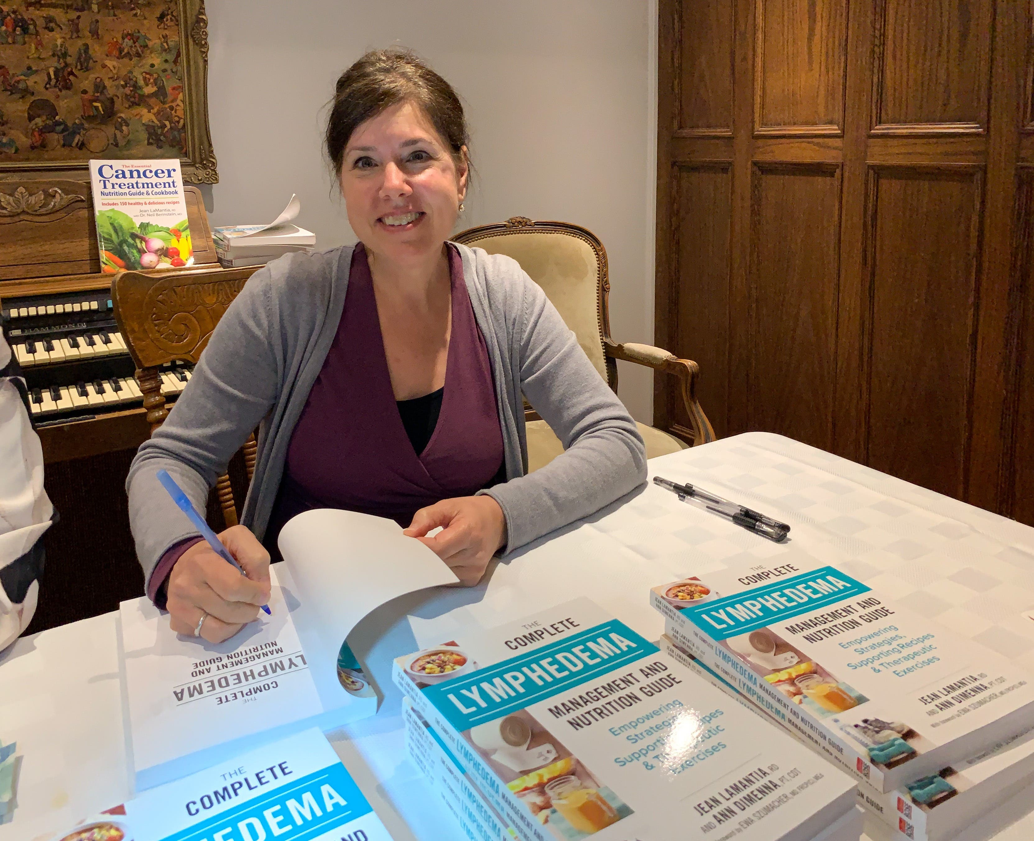 Receive a signed copy of The Complete Lymphedema Management and Nutrition Guide as a bonus when you enrolled in Lymphedema Nutrition School
