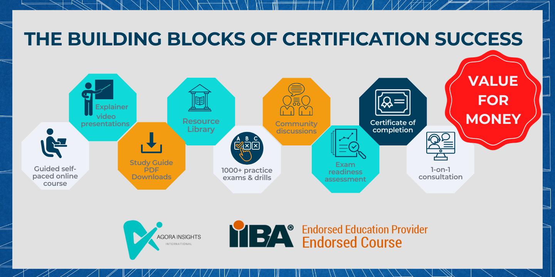 IIBA ECBA™, CCBA®, CBAP® and CCA® exam preparation