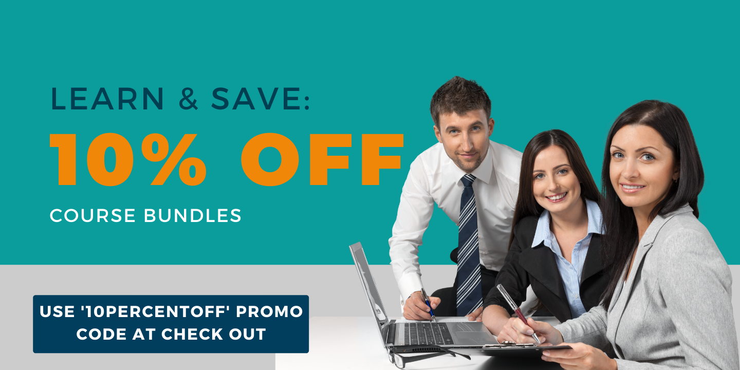 Learn and save: Get 10% off course bundles. Use GIVEME10 promo code at check out.