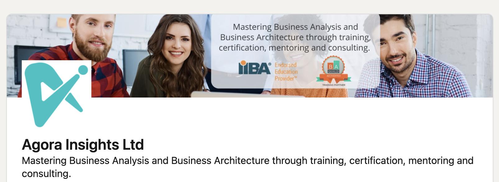 Agora Insights IIBA and Architecture Guild endorsed provider