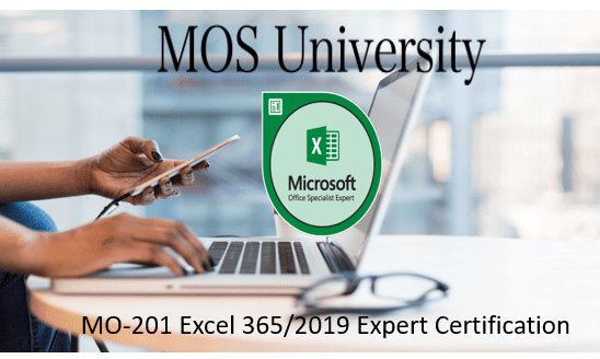 MO-201 Microsoft Excel 365/2019 Expert Certification
