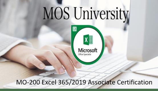 MO-200 Microsoft Excel 365/2019 Associate Certification