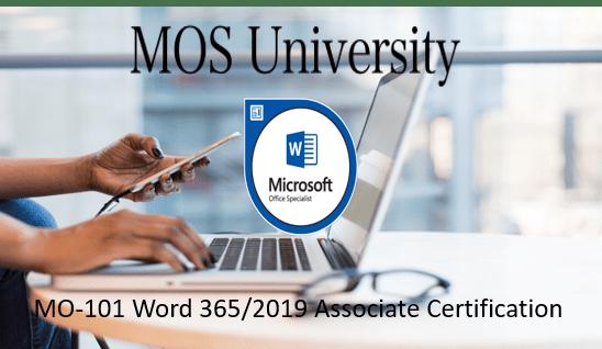 MO-101 Microsoft Word 365/2019 Expert Certifiation