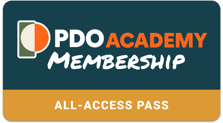 The PDO Academy membership card grants you access to a growing catalog of Fusion 360 courses.
