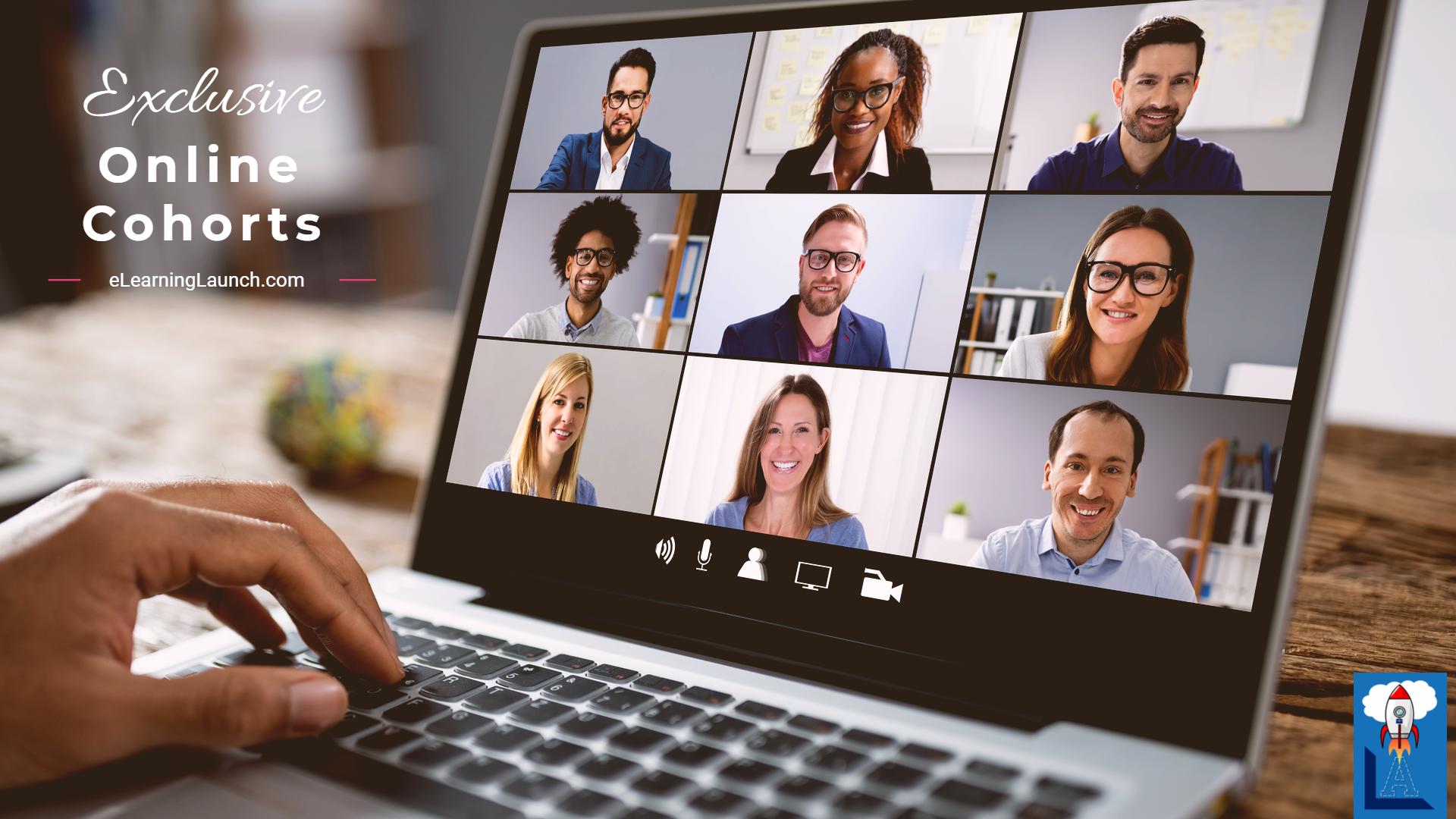image of several people in online meeting