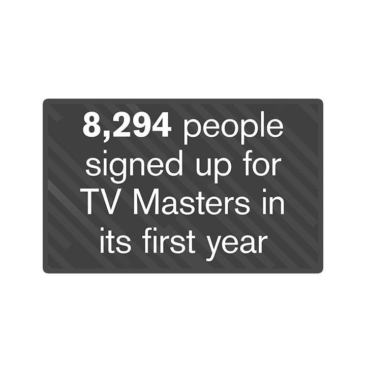 TV Masters: 8,294 people signed up in the first year