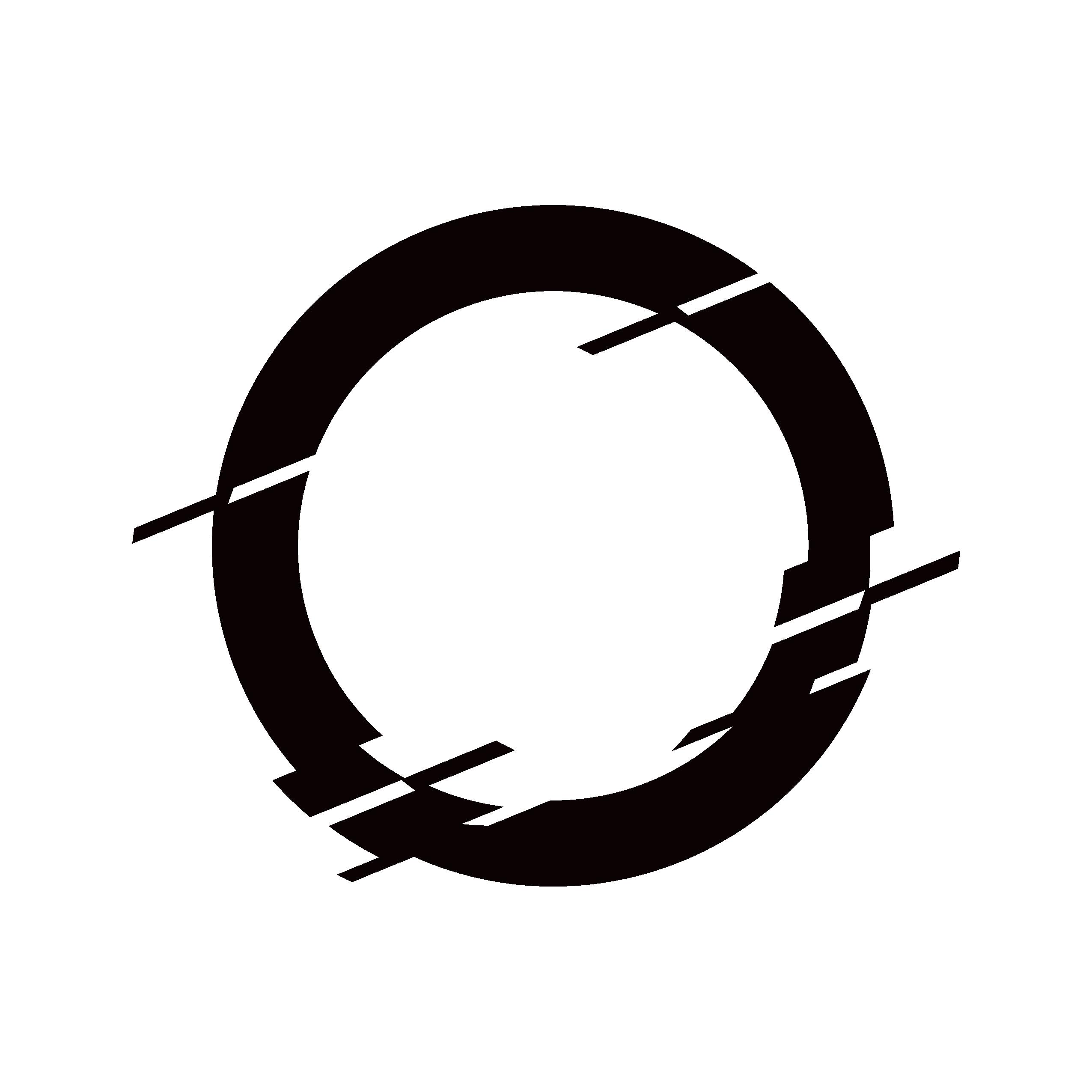 defense club logo a circle with glitches