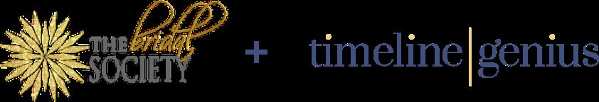 The Bridal Society + Timeline Genius logo lockup