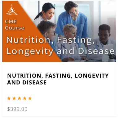 Nutrition, Fasting, Longevity and Disease