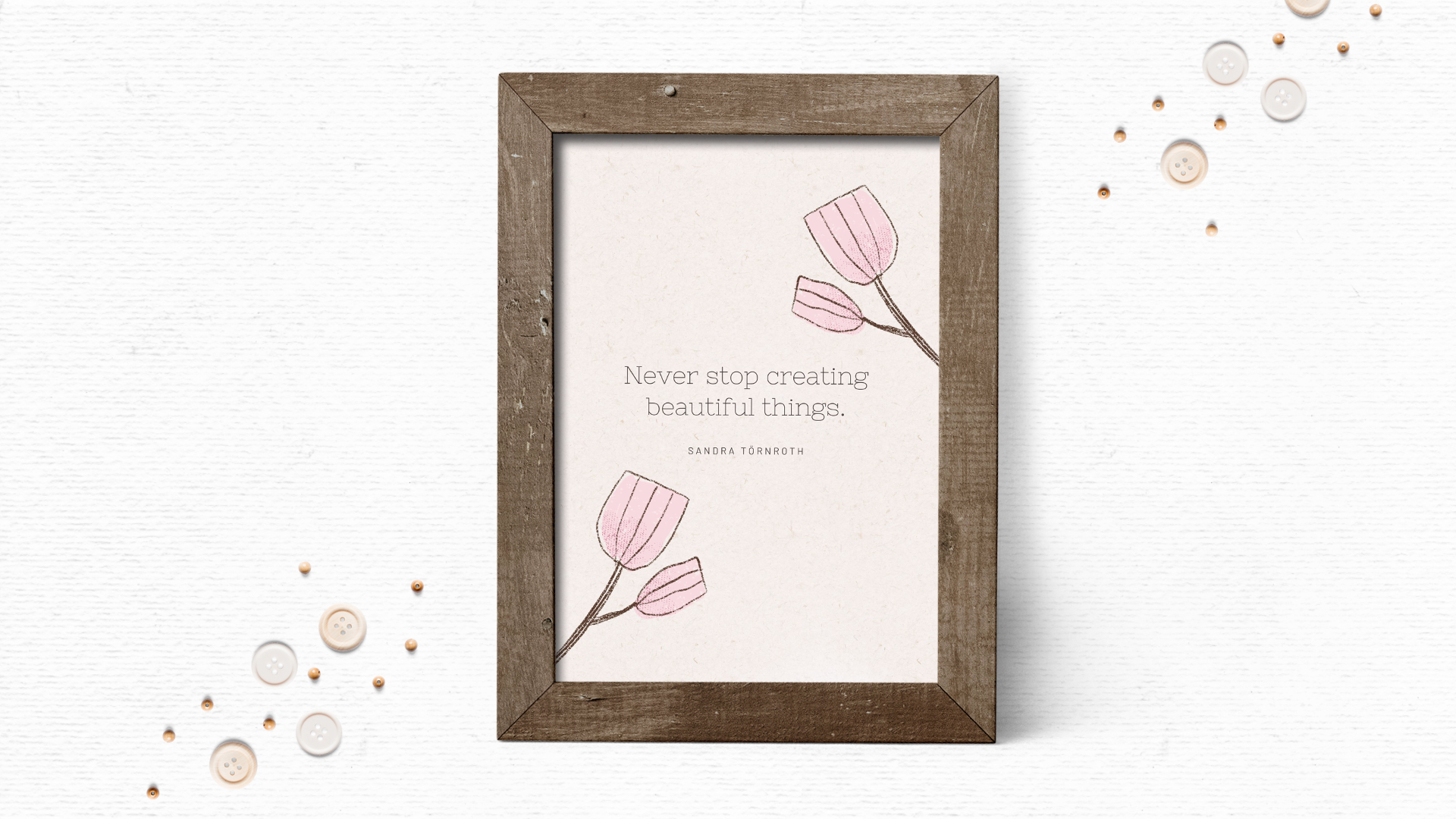 Whimsical quote art printable design