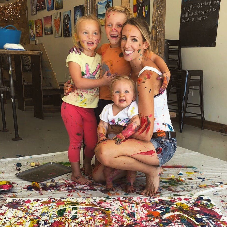 Creating a family masterpiece with my mini artists