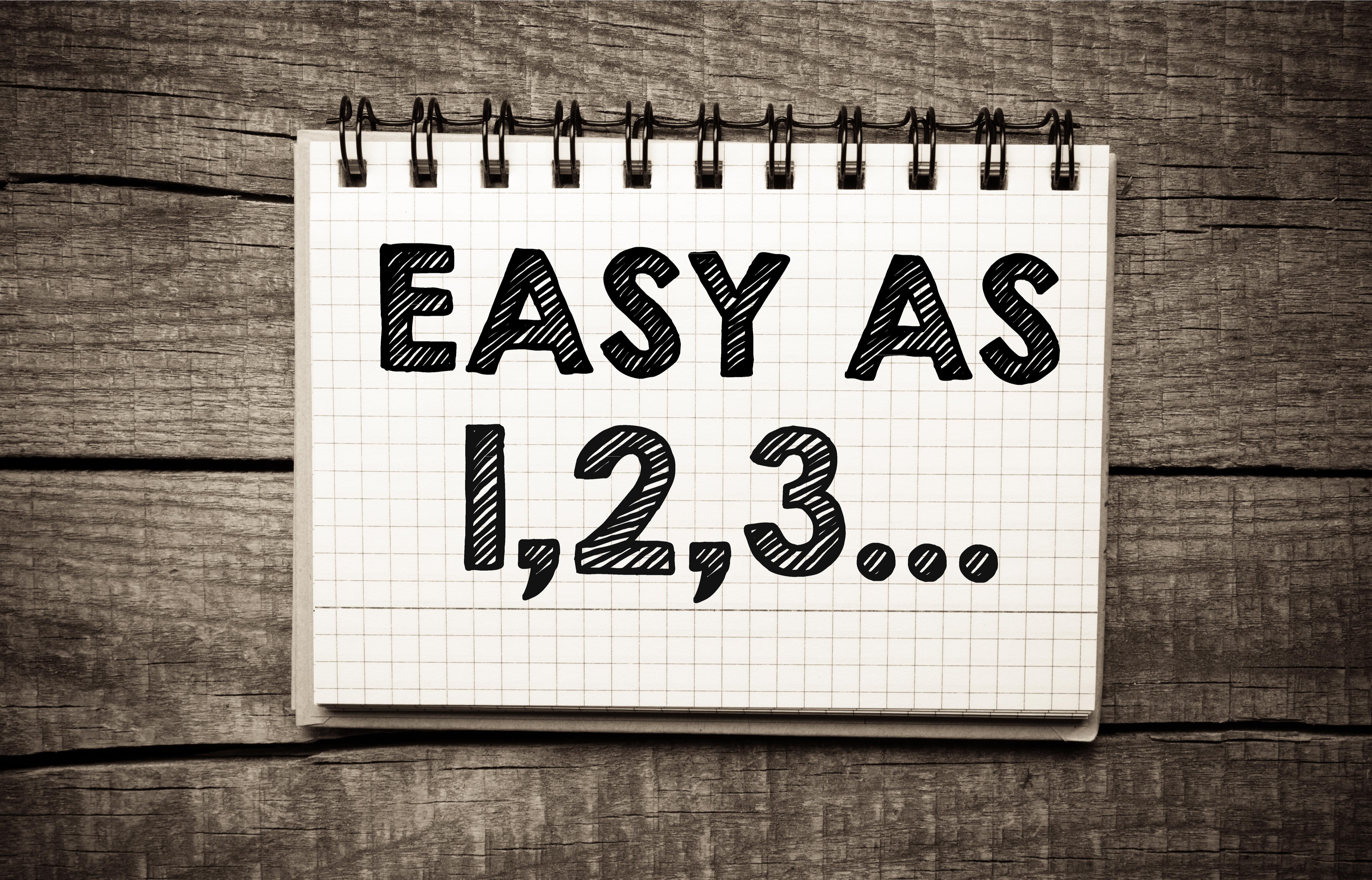 Easy As 1,2,3...