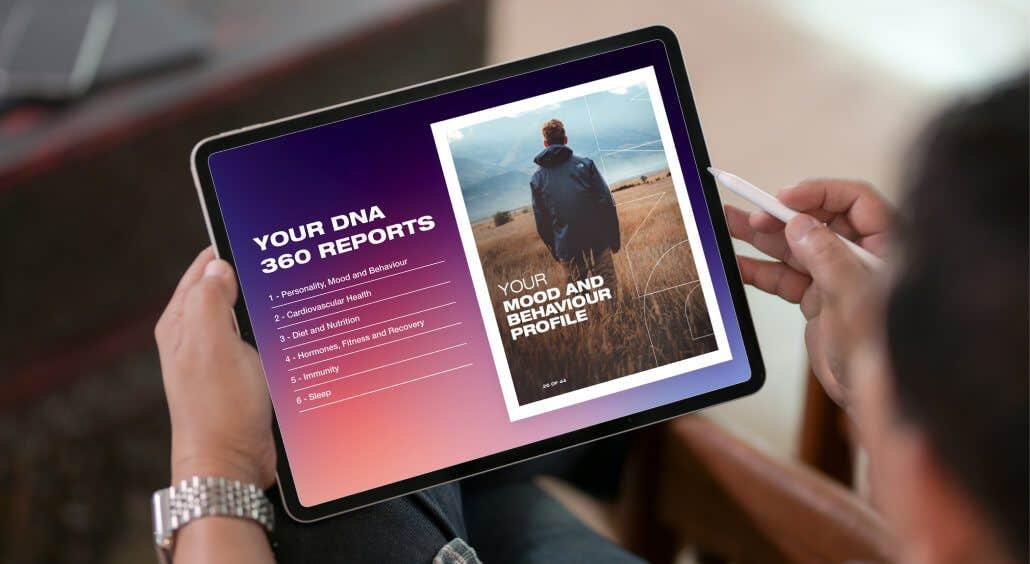 Browsing the DNA 360 reports on a tablet device