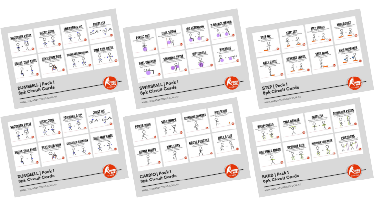 Circuit cards for fitness professionals
