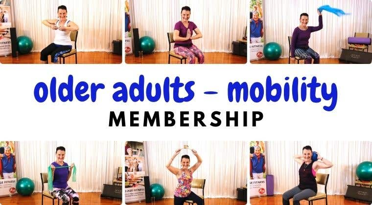 Home workout mobility membership for older adults