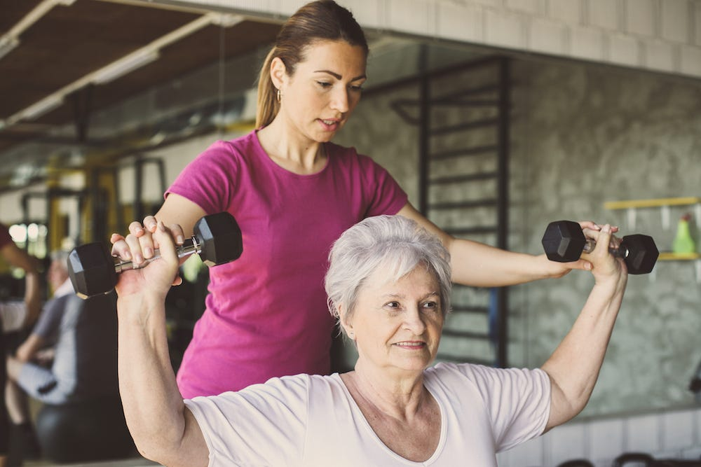 Older adults fitness instructors
