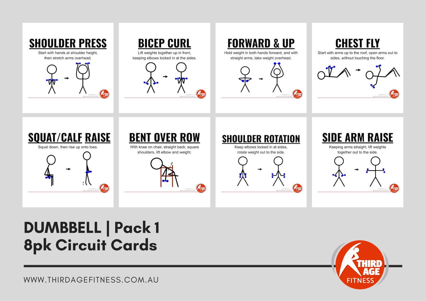 Circuit Cards - Dumbbells Pack 1