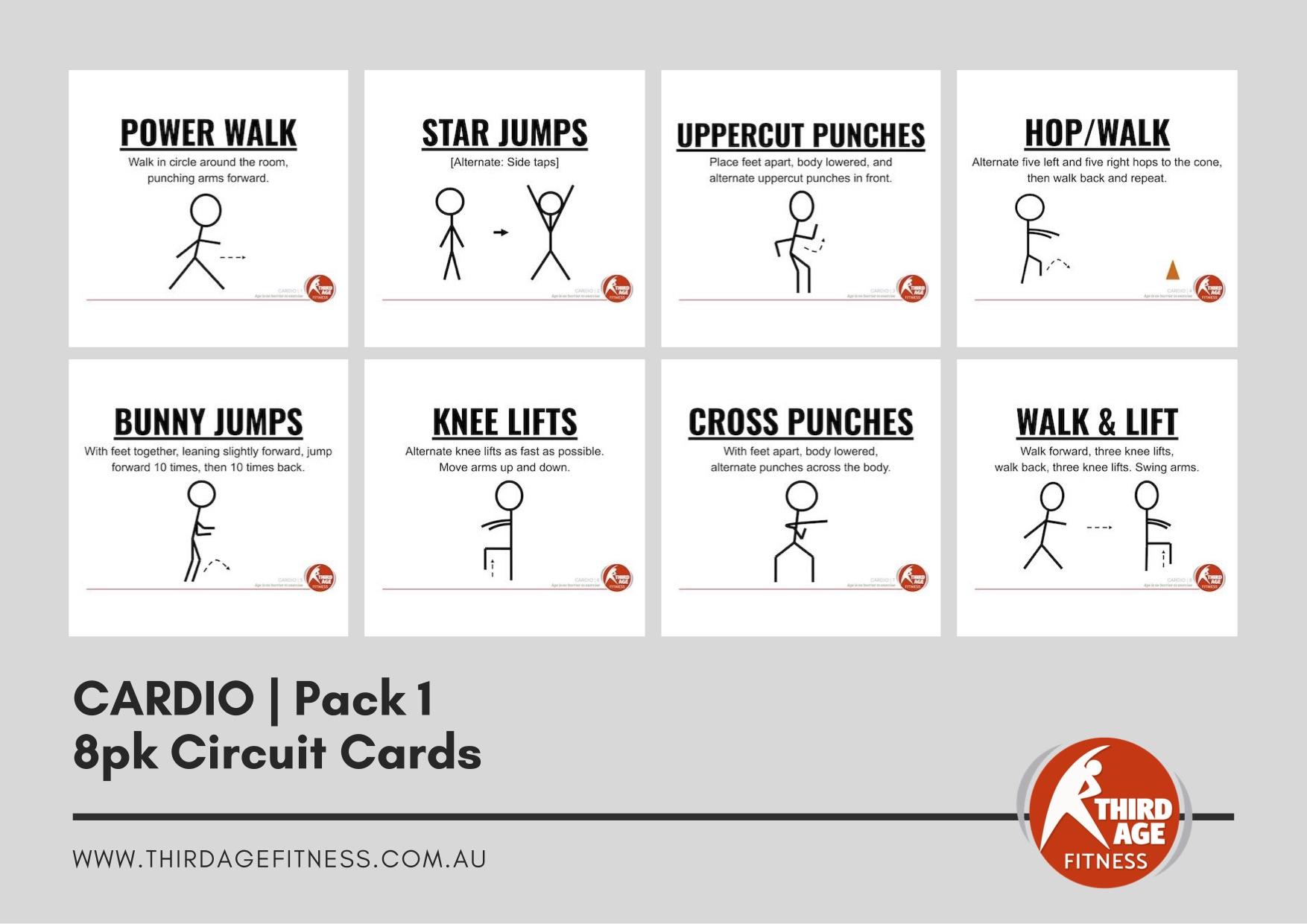 Circuit Cards - Cardio Pack 1