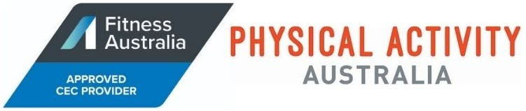 Course accreditation from Fitness Australia, Physical Activity Australia