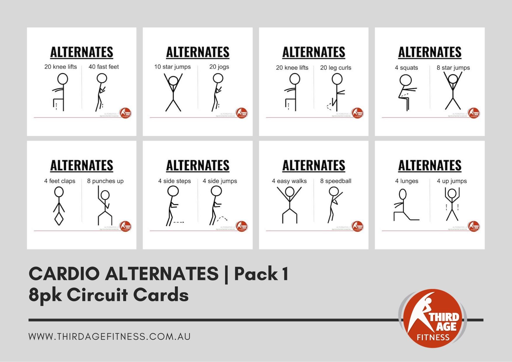 Circuit Cards - Cardio Alternates Pack 1