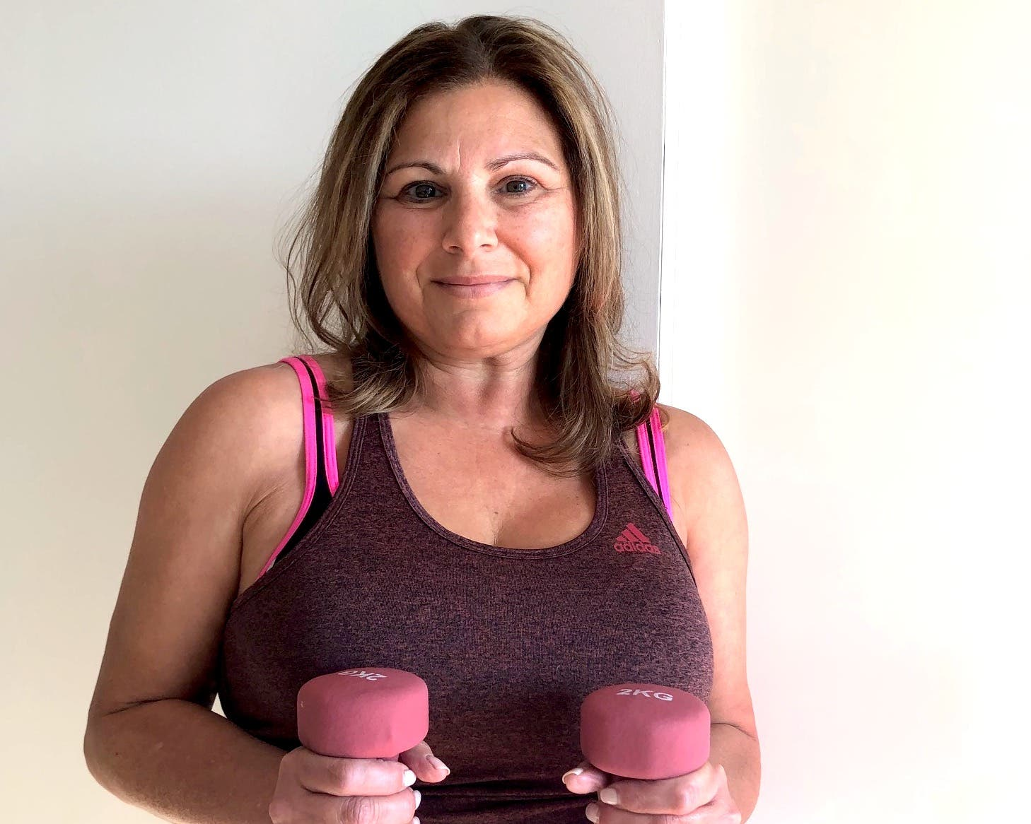 Member Profile - Bea working out at home
