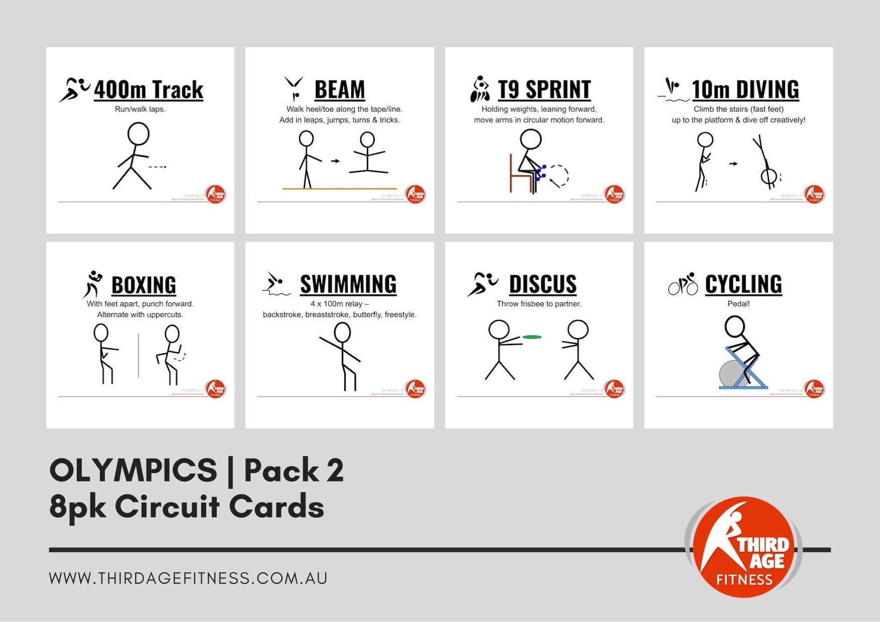 Circuit Cards - Olympics Pack 2