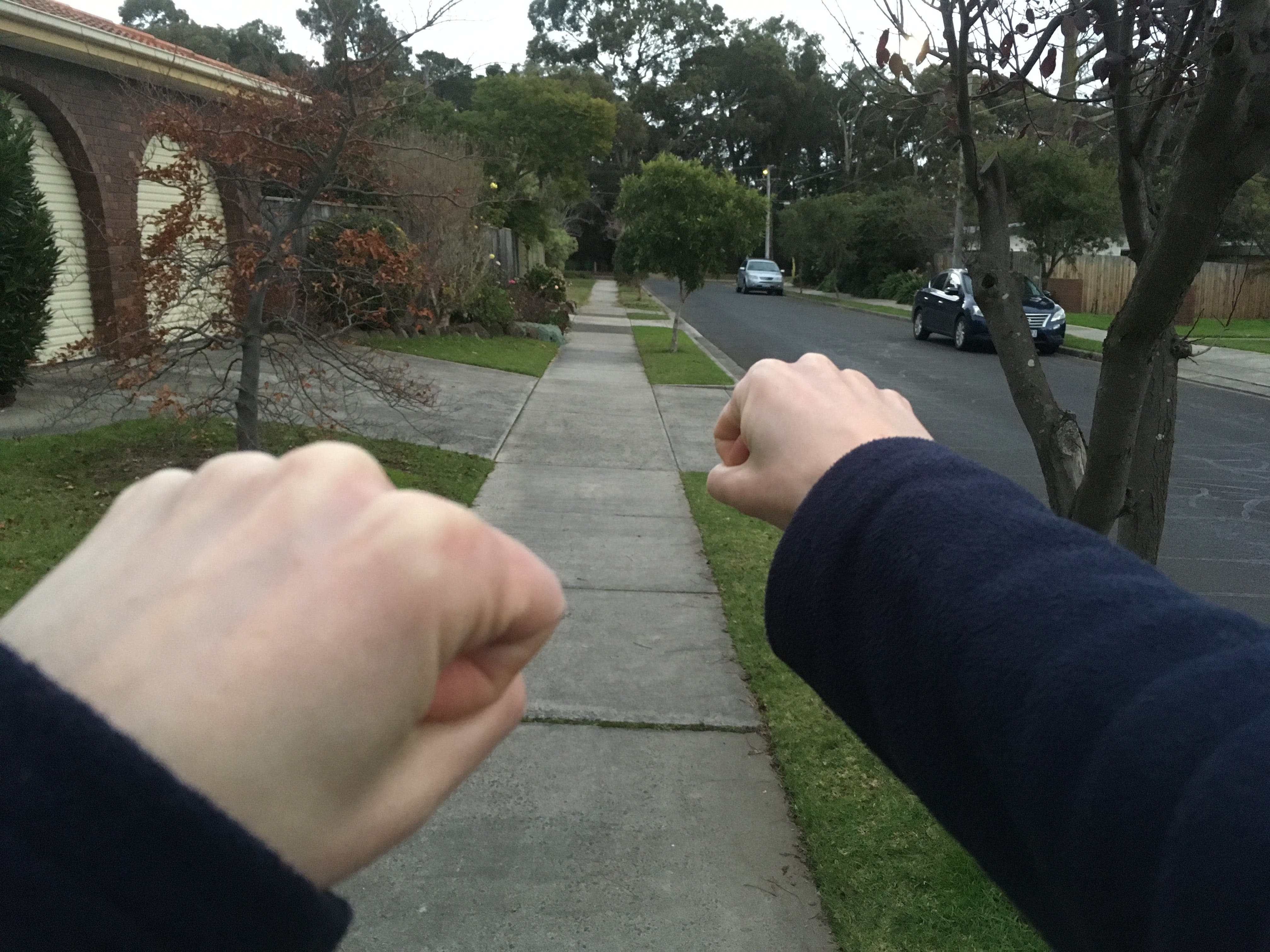 Walking tip - gets the arms involved