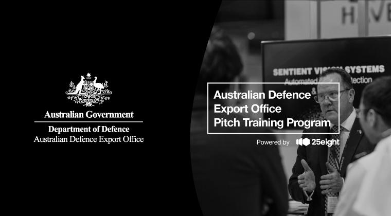 Australian Defence Export Office Pitch Training Program July 2021